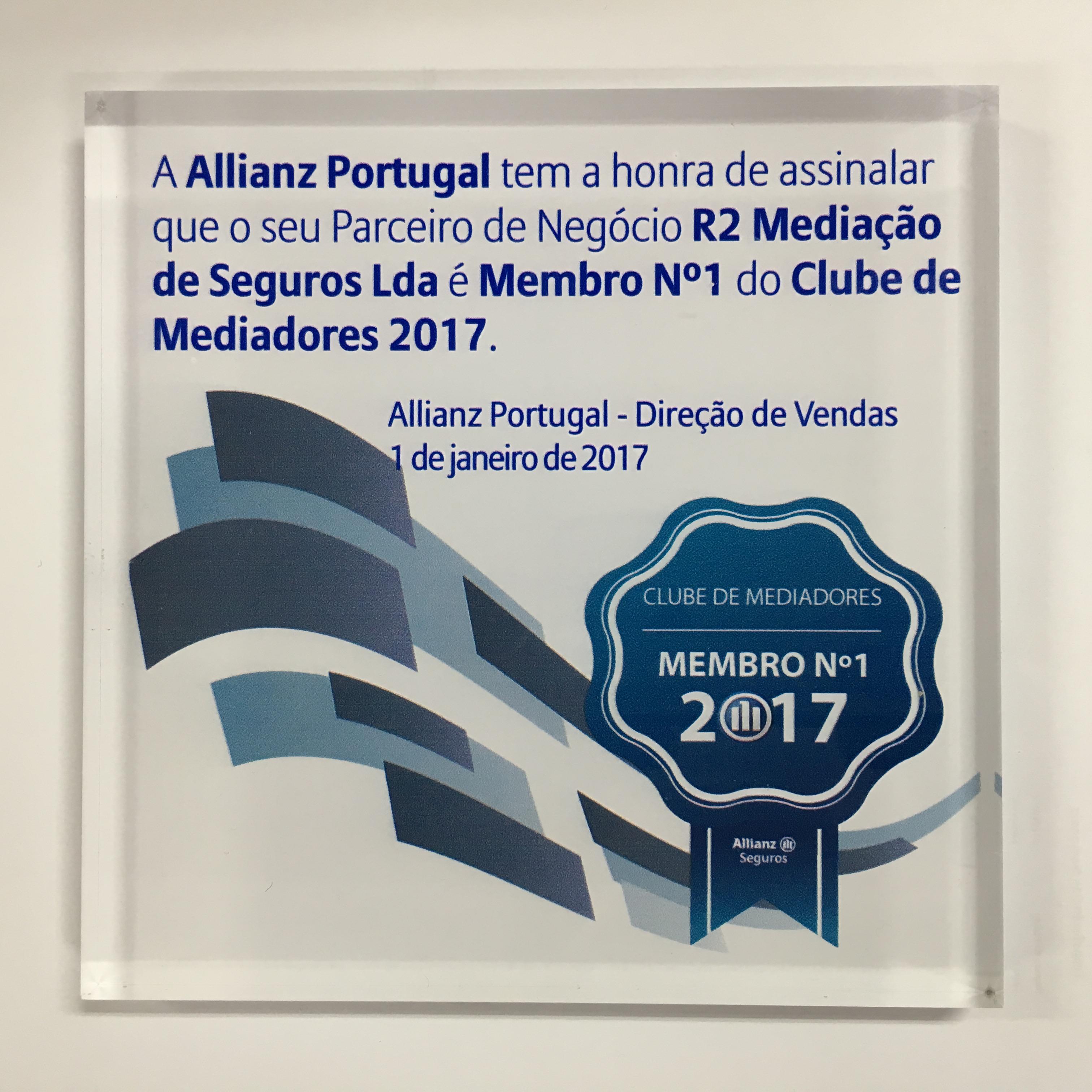 Member Nº1 of Agents Club 2017 by Allianz R2 - Mediação de Seguros Lda. 1